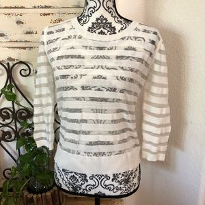 Rebecca minkoff white sheer sweater